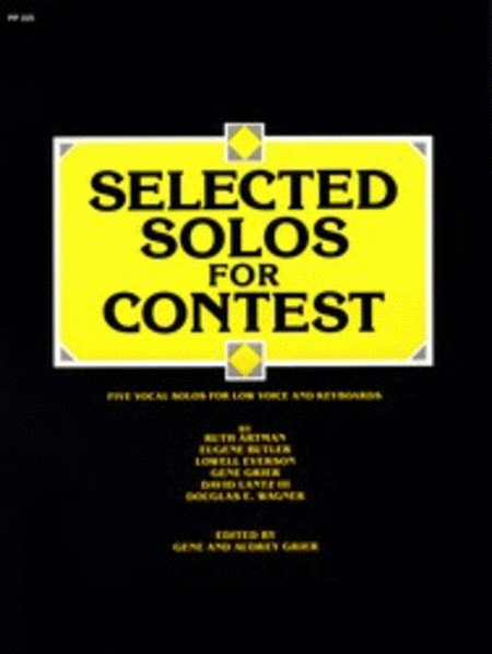 Selected Solos for Contest - Low Voice