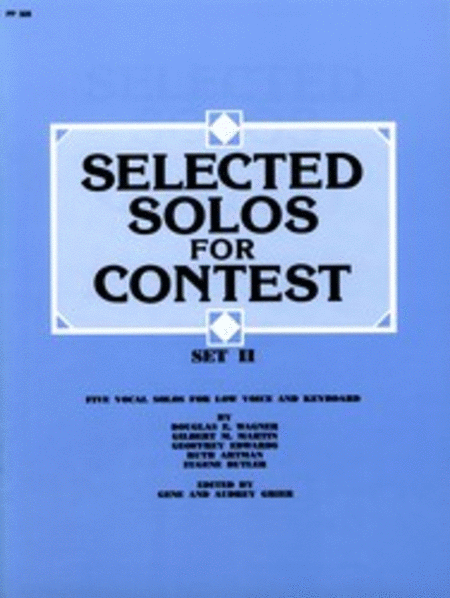 Selected Solos for Contest, Set II - Low Voice