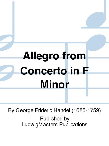 Allegro from Concerto in F Minor