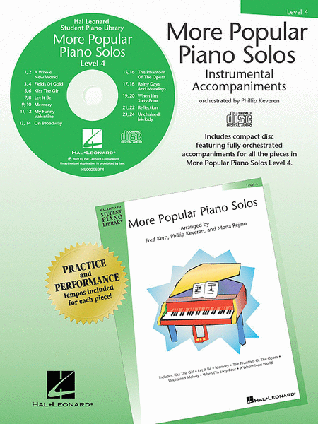 More Popular Piano Solos - Level 4 - CD