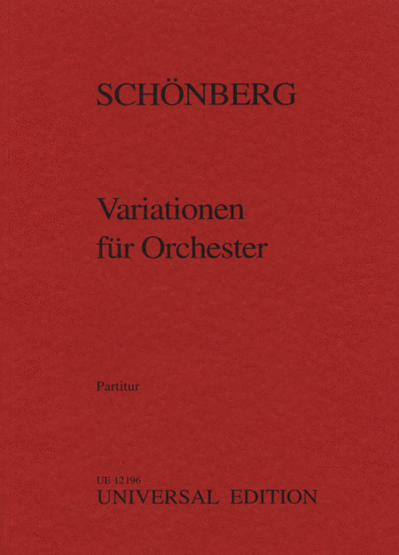 Variations for Orchestra, Op. 31