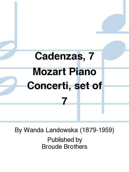 Cadenzas, 7 Mozart Piano Concerti, set of 7