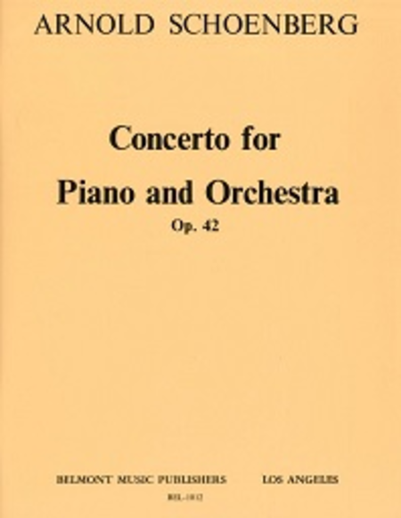 Concerto for Piano and Orchestra, Op. 42
