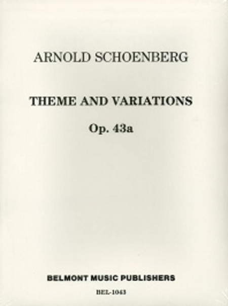 Theme and Variations for Windband, Op. 43a