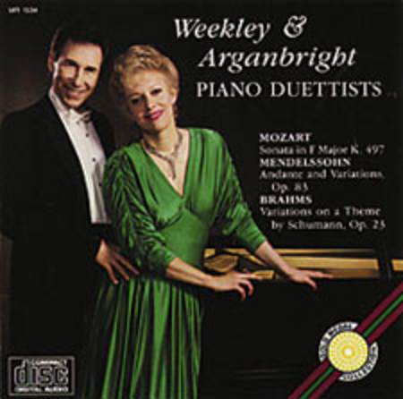Weekley & Arganbright, Piano Duettists (CD)