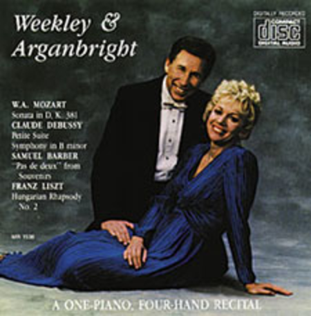 Weekley & Arganbright, A One Piano Four Hand Recital (CD)