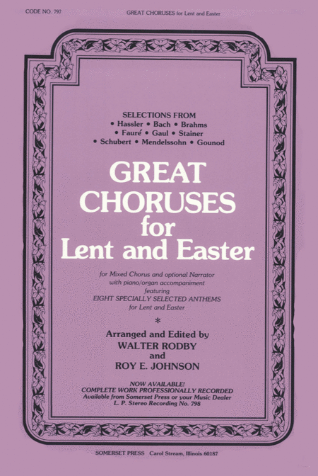 Great Choruses For Lent and Easter
