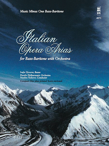 Italian Opera Arias for Bass-Baritone and Orchestra