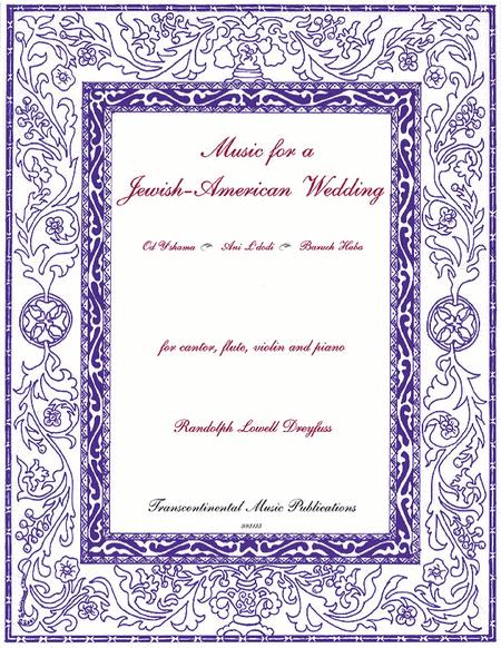 Music for a Jewish-American Wedding