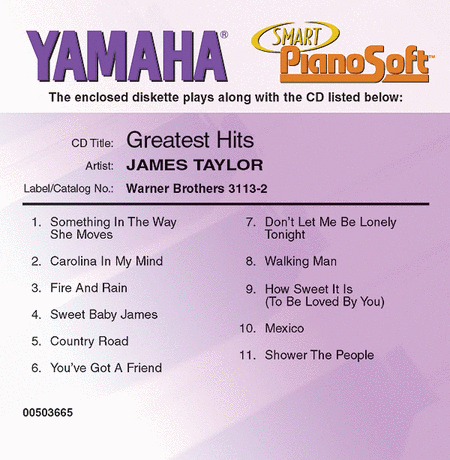 James Taylor - Greatest Hits - Piano Software