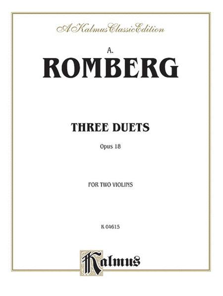 3 Duets, Op. 18