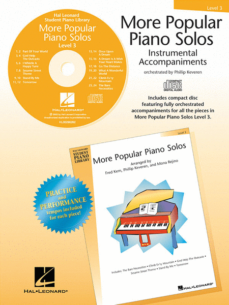 More Popular Piano Solos - Level 3 - CD
