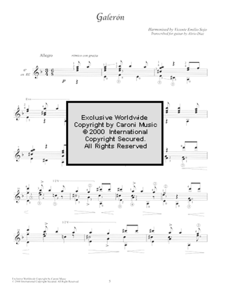 Vicente Emilio Sojo - Works for Guitar, Volume 1