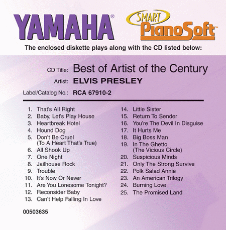 Elvis Presley - Best of Artist of the Century - Piano Software