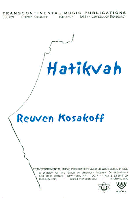 Hatikvah (The National Anthem Of Israel) (SATB)