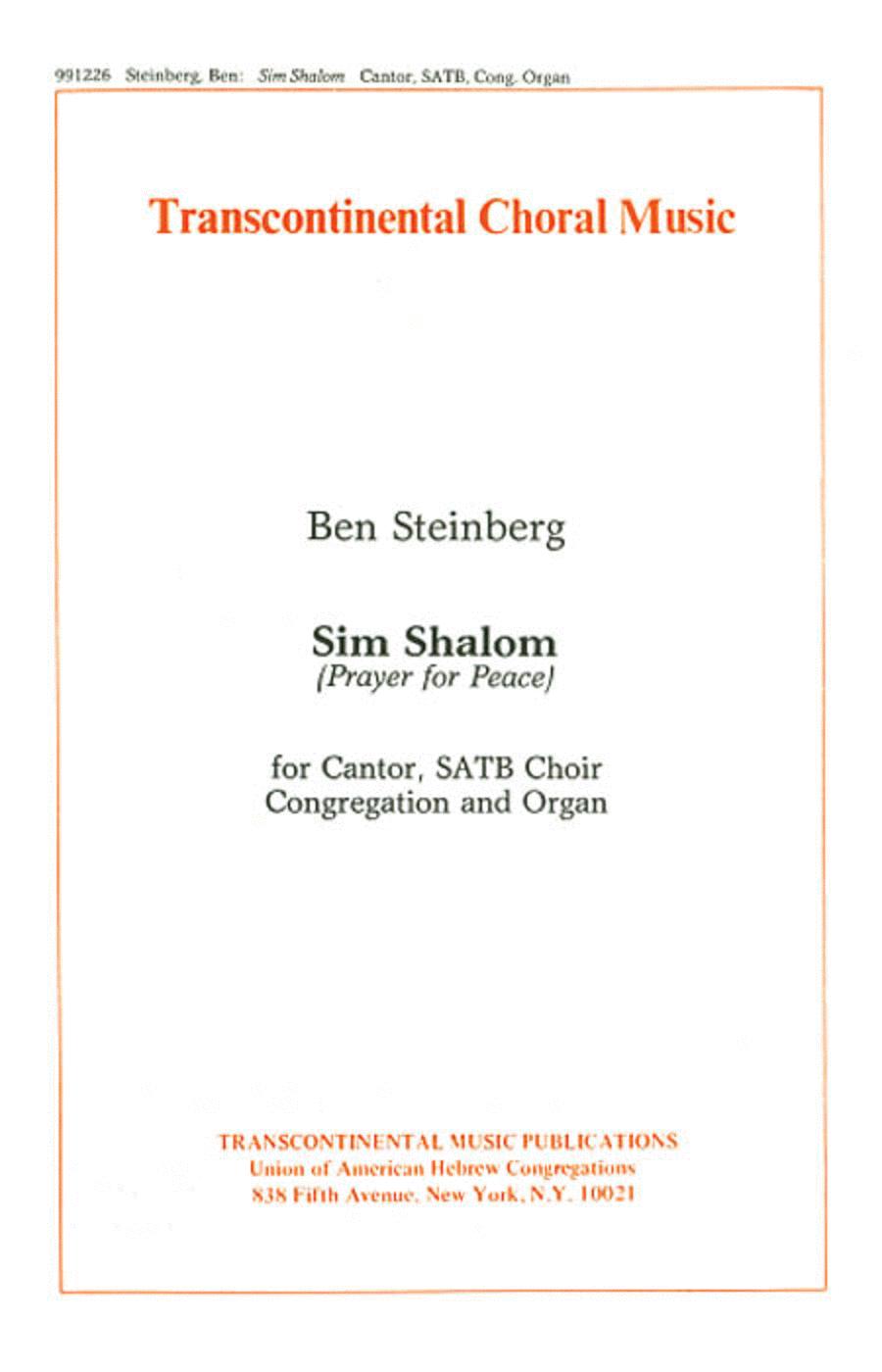 Sim Shalom (Prayer For Peace)