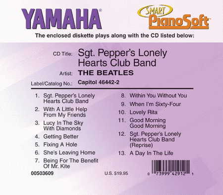 The Beatles - Sgt. Pepper's Lonely Hearts Club Band - Piano Software
