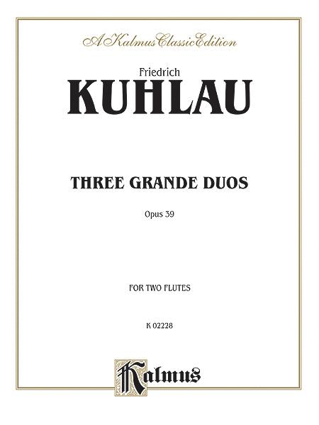 Three Grande Duos Op 39 - 2 Flutes