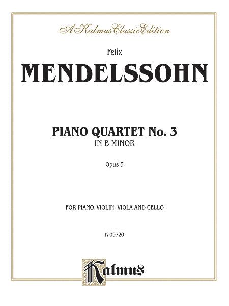 Piano Quartets Op. 3