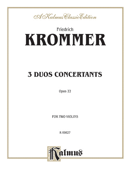 3 Duos Conc - Op.22 For 2 Violins