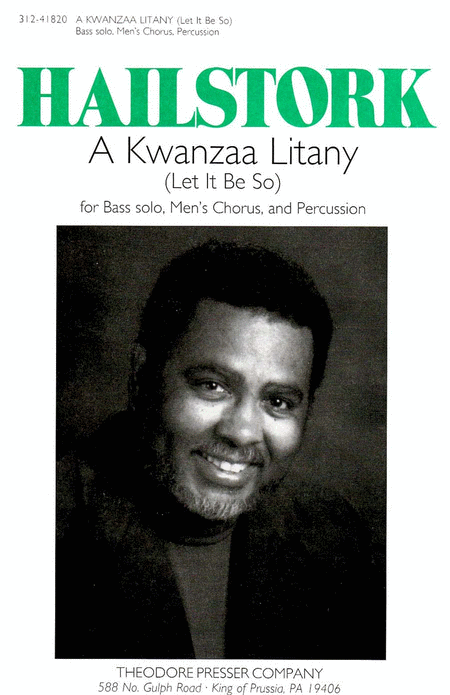 A Kwanzaa Litany (Let It Be So)