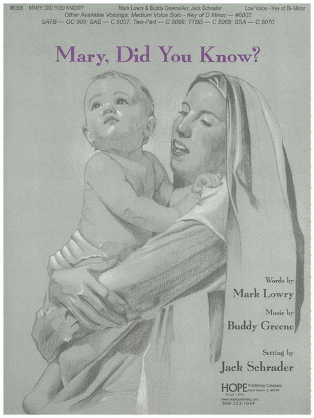 Mary, Did You Know? Sheet Music By Buddy Greene - Sheet Music Plus