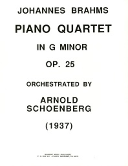Piano quartet in g minor, op. 25