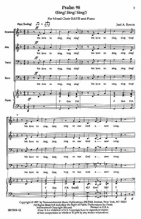Psalm 98 (Sing! Sing! Sing!)