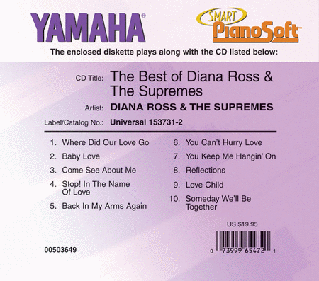 The Best of Diana Ross & The Supremes - Piano Software