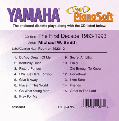 Michael W. Smith - The First Decade: 1983-1993 - Piano Software