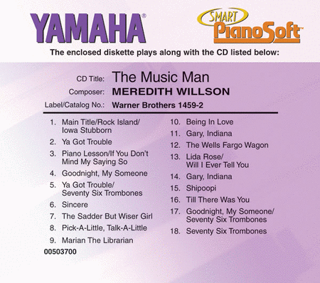 Meredith Willson - The Music Man - Piano Software