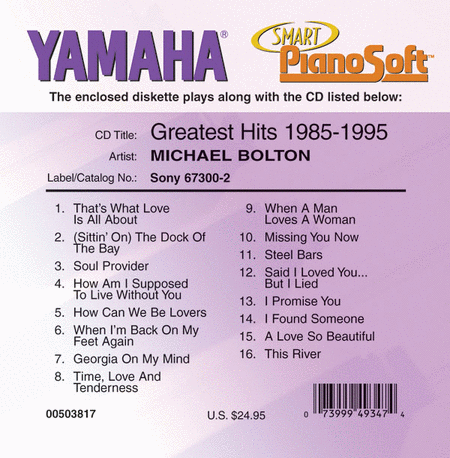 Michael Bolton - Greatest Hits 1985-1995 - Piano Software