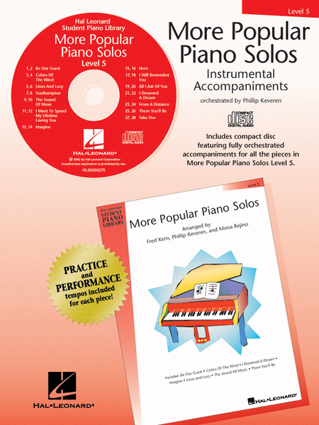 More Popular Piano Solos - Level 5 - CD