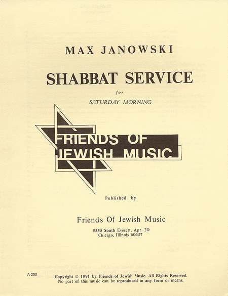 Shabbat Service For Saturday Morning