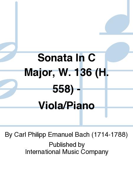 Sonata In C Major, W. 136 (H. 558) - Viola/Piano