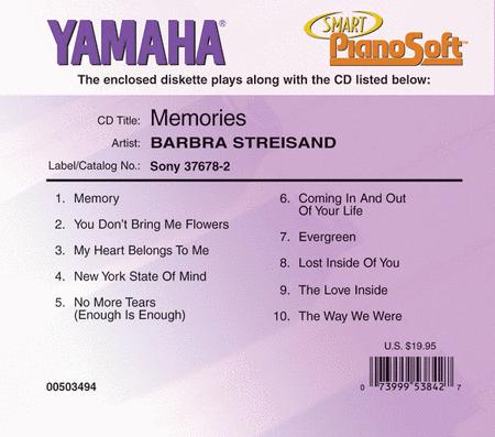 Barbra Streisand - Memories - Piano Software