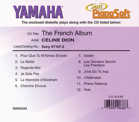 Celine Dion - The French Album - Piano Software