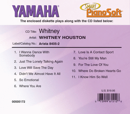 Whitney Houston - Whitney - Piano Software