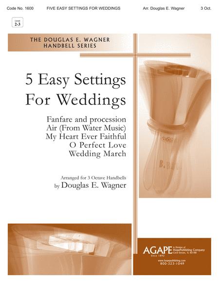Five Easy Settings For Weddings