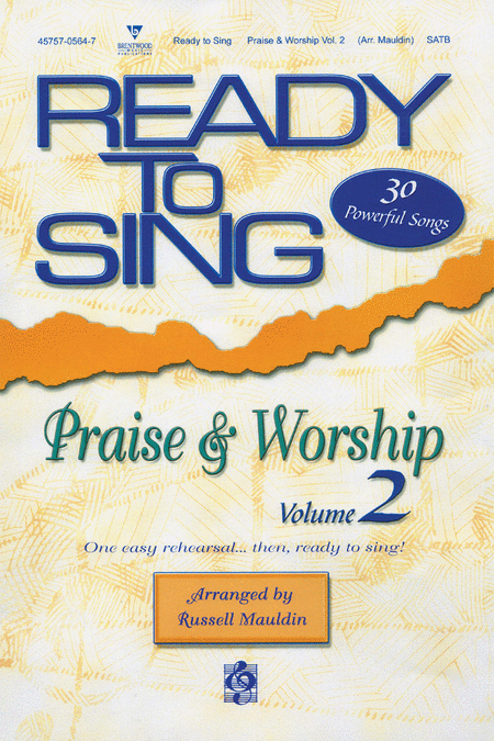 Ready To Sing Praise and Worship, Volume 2 (Choral Book)