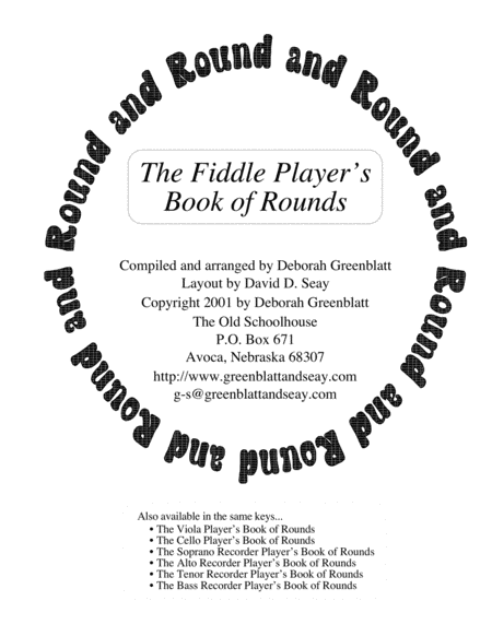 The Fiddle Player's Book of Rounds