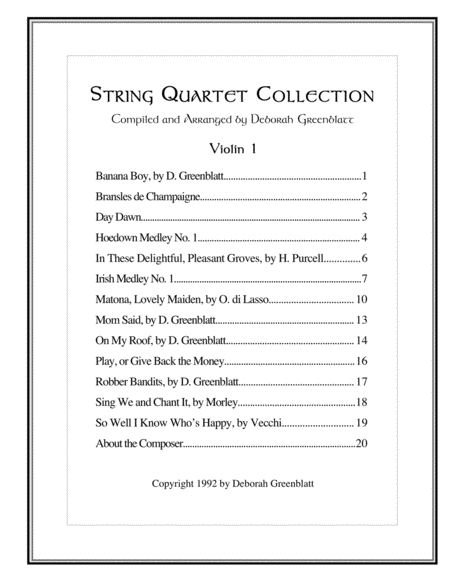 String Quartet Collection