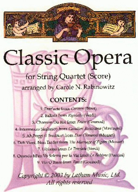 Classic Opera for String Quartet