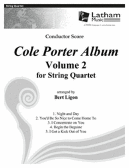 Cole Porter Album: Volume 2 for String Quartet - Score