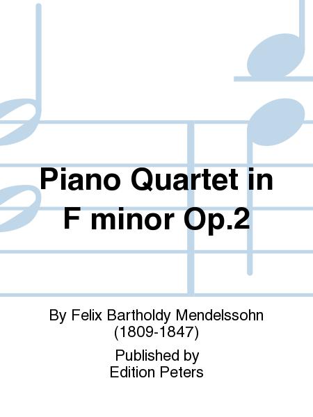 Piano Quartet in F minor Op. 2