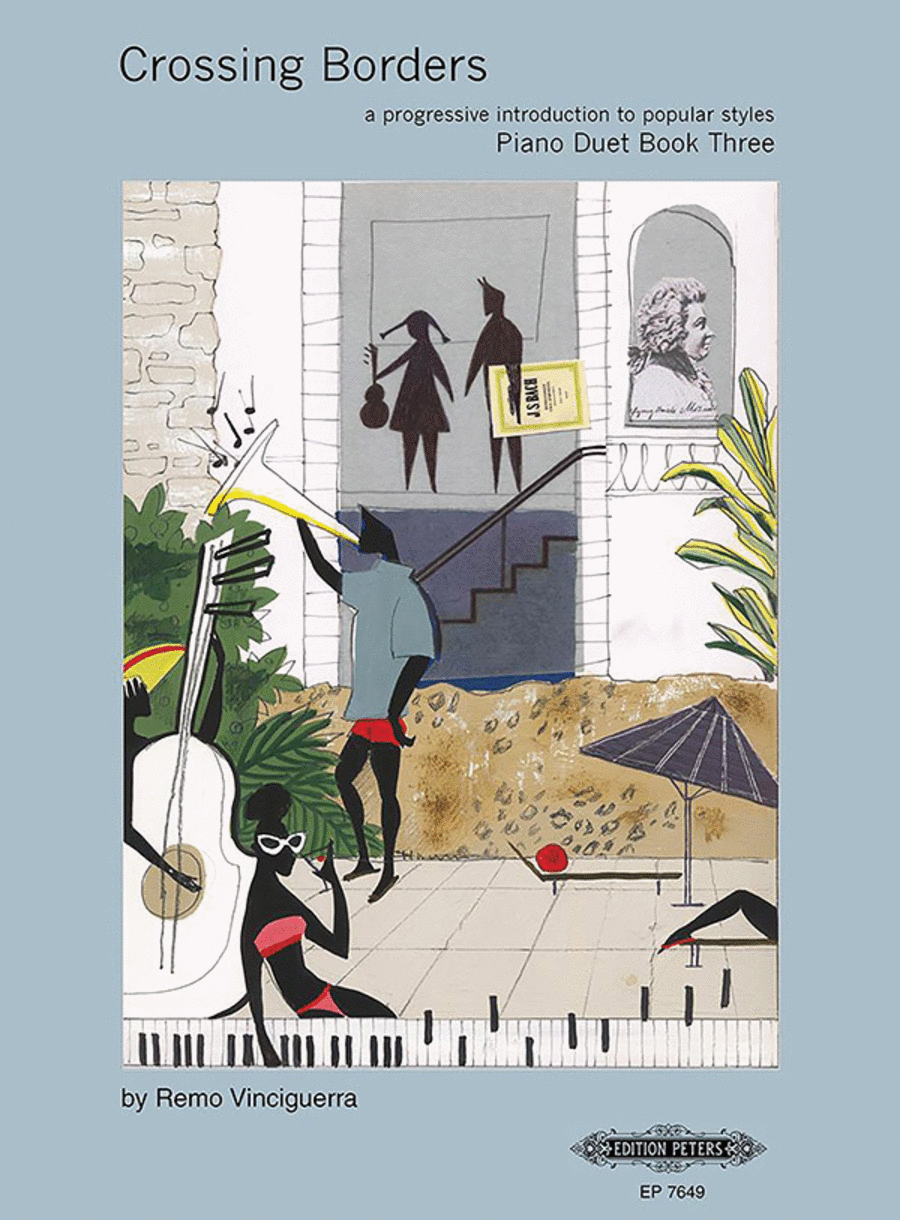 Crossing Borders Piano Duet, Book 3 (A Progressive Introduction to Popular Styles for Piano)