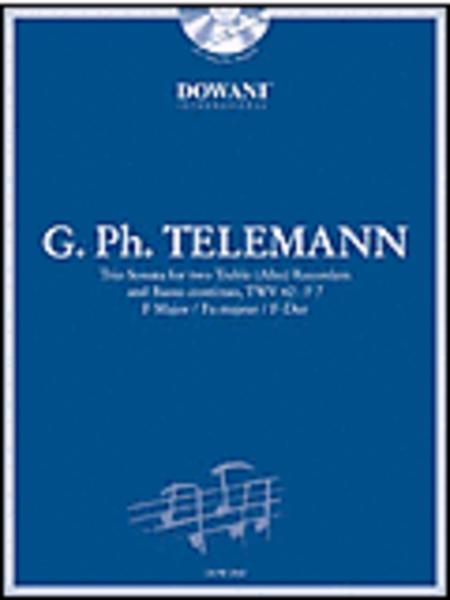 Telemann: Trio Sonata in F Major for 2 Treble (Alto) Recorders and Basso Continuo TWV42:F7