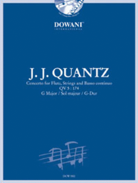 Quantz - Concerto for Flute, Strings and Basso Continuo Qv 5: 174 in G Major