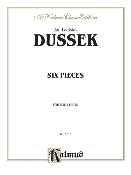 Six Pieces For Piano Solo