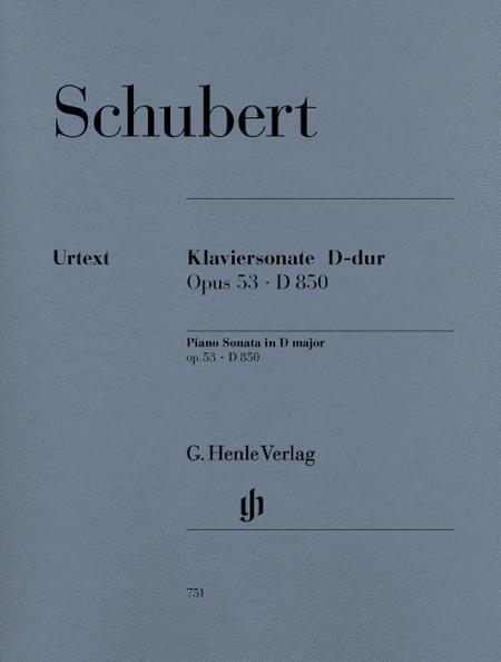 Piano Sonata D Major Op. 53 D 850